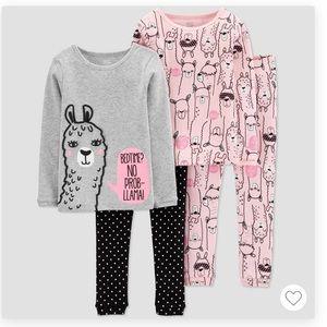 💛3 for $40💛NWT Carter's Llama PJs 4-pcs